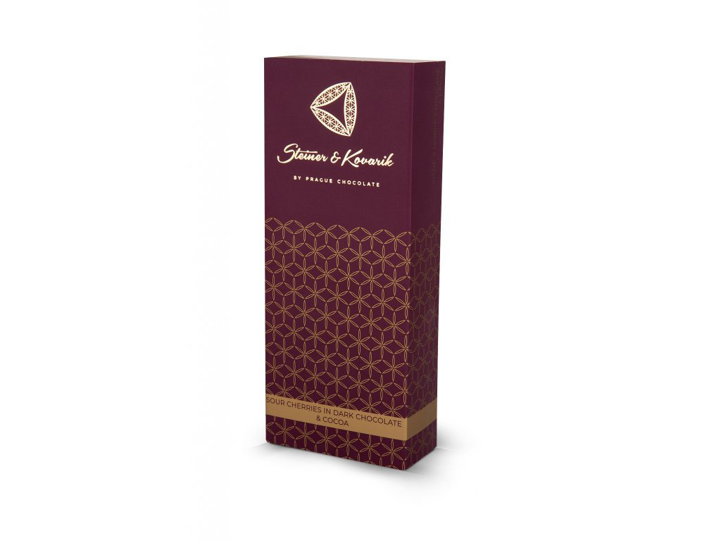 Candied Sour Cherries in Dark Chocolate & Cocoa, 150g