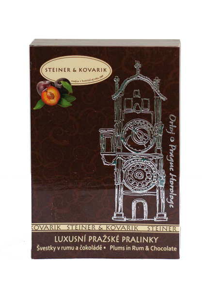   Luxury pralines plums in czech rum