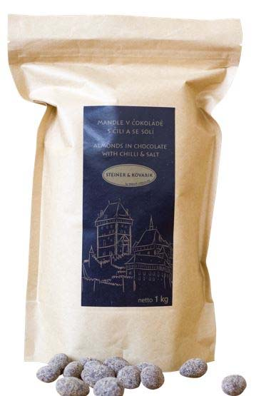 Charles's Almonds in dark chocolate, chilli and salt - 1 kg
