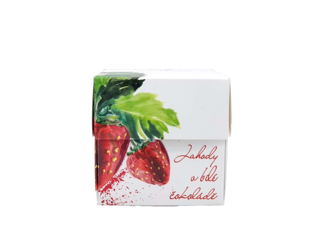 Freeze Dried Strawberries in White Chocolate, 110 g