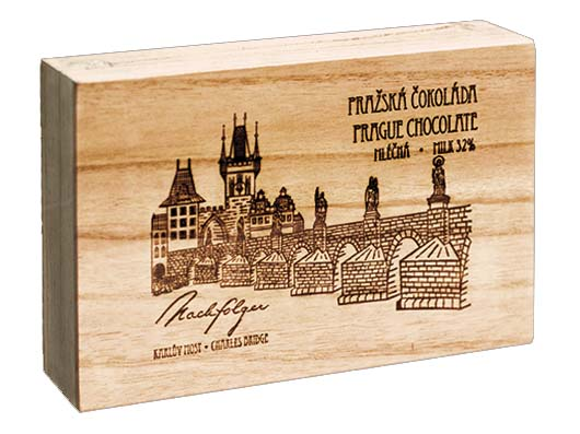  Charles Bridge wooden box, 247 g