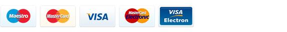 Maestro - MasterCard - Visa - MasterCard Electronic - Visa Electron